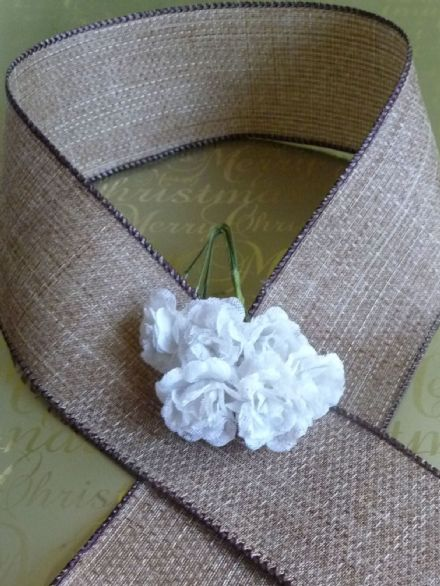 Hessian wire edge ribbon available in 38 or 63mm width ribbon for Weddings, Shabby Chic or Vintage events